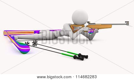Biathlon Sport Shoots Lying