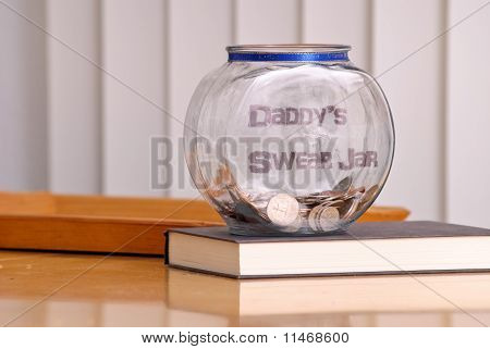 Daddy's Swear Jar On The With Coins poster