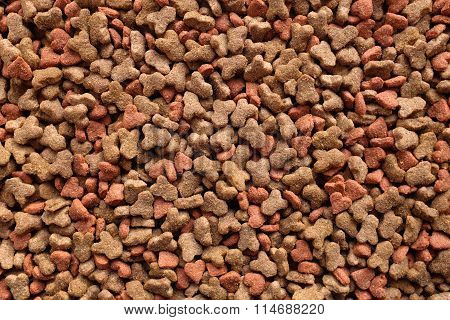 Dried Cat Food Background