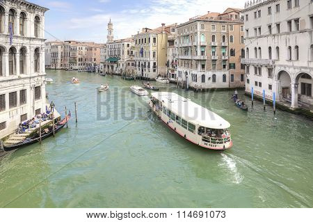 Embankment Of Grand Canal. Venice