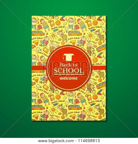 Vector school brochure