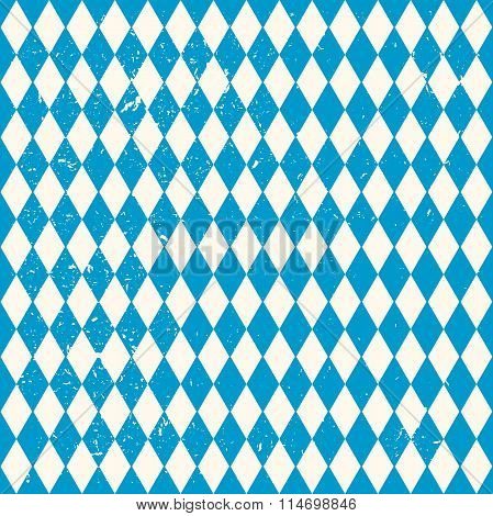 Oktoberfest seamless pattern with rhombus