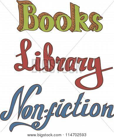 Books. Library. Non-fiction