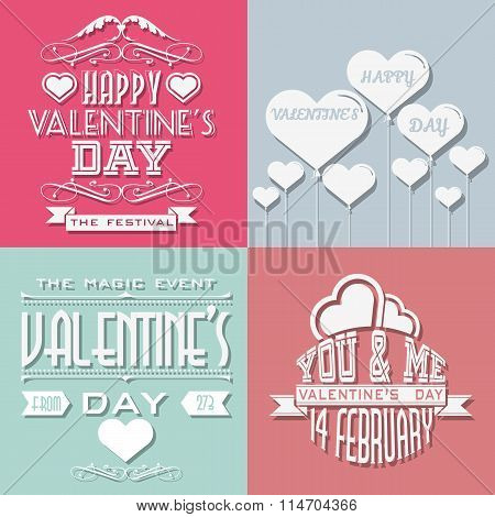 Valentine's Day Typography Other Written Retro Style Vintage
