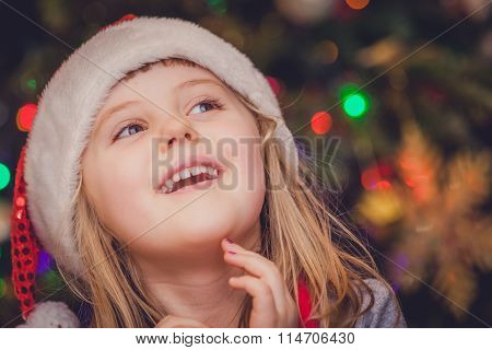 Cute Christmas girl portrait