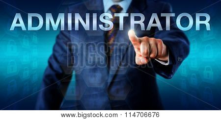 Executive Pressing Administrator Onscreen