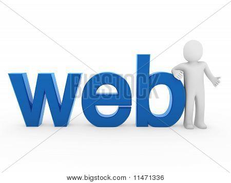 3D Human Web Blue