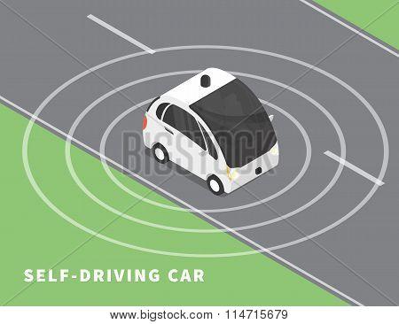 Self-driving car  black icon