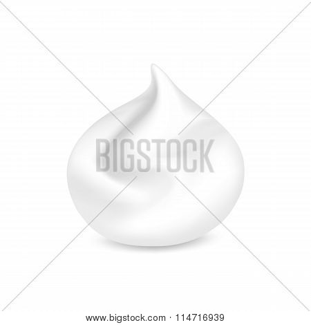 Vector White Foam Cream Mousse Soap Lotion Isolated on Background