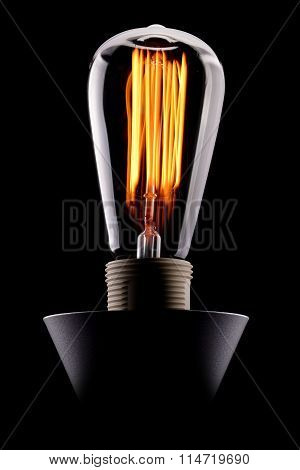 Edison Light Bulb Glowing
