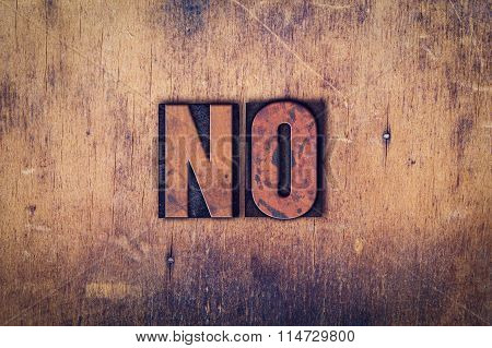 No Concept Wooden Letterpress Type