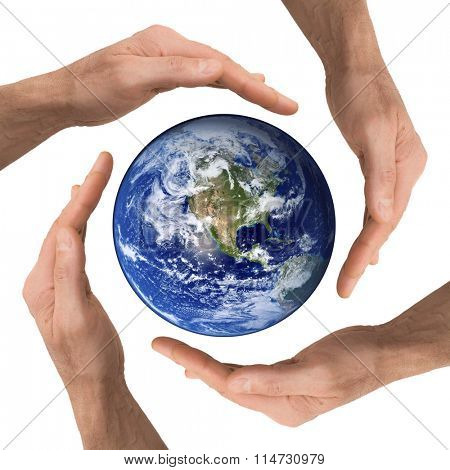arm hold earth