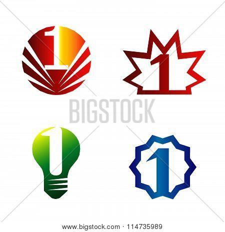 Number one logo set