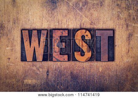 West Concept Wooden Letterpress Type