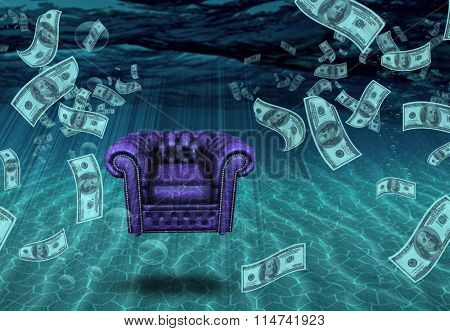 Comfortable Chair and US Currency