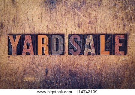 Yard Sale Concept Wooden Letterpress Type