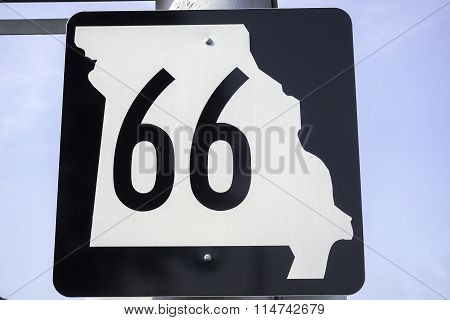 Missouri Route 66 Signs, Mo Usa