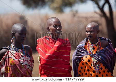 Masai women in the village