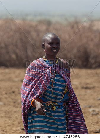 Masai women in the village in Amboseli National Park