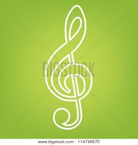 Violine clef line icon