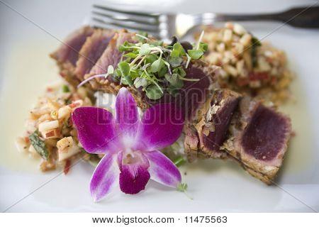 Seared Ahi Tuna With Microgreens