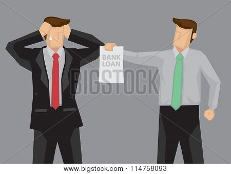Economic Stress Vector Cartoon Illustration