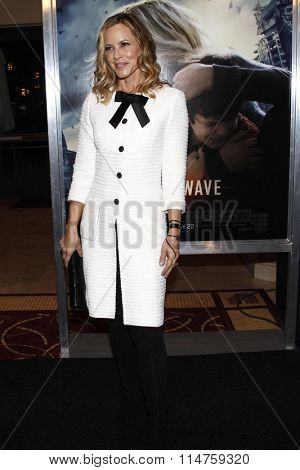 vLOS ANGELES - JAN 14:  Maria Bello at the The 5th Wave Los Angeles Premiere at the Pacific Theatres At The Grove on January 14, 2016 in Los Angeles, CA