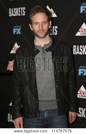 vLOS ANGELES - JAN 14:  Glenn Howerton at the Baskets Red Carpet Event at the Pacific Design Center on January 14, 2016 in West Hollywood, CA