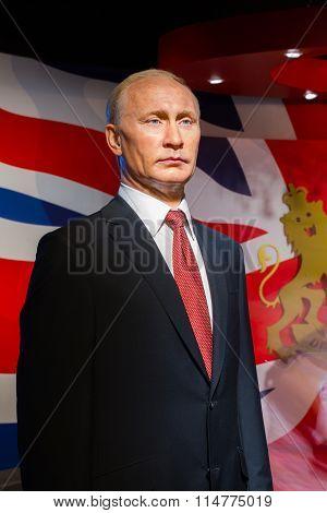 Bangkok, Thailand - December 19: Wax Figure Of The Famous Vladimir Putin From Madame Tussauds On Dec