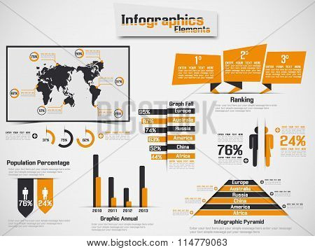 Infographic Demographic Element Web New Style