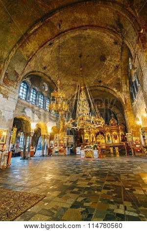 Interior of St. Nicholas Church in Memorial complex Brest Hero Fortress in Belarus