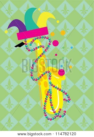 Mardi Gras Vector Illustration.
