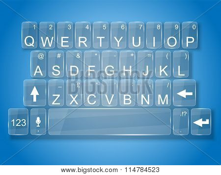 Keyboard Glass Whit Shadow