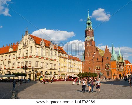 Main Square and Town Hall in Wroclaw