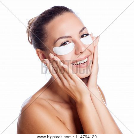 Pretty Face Of Beautiful Smiling Woman