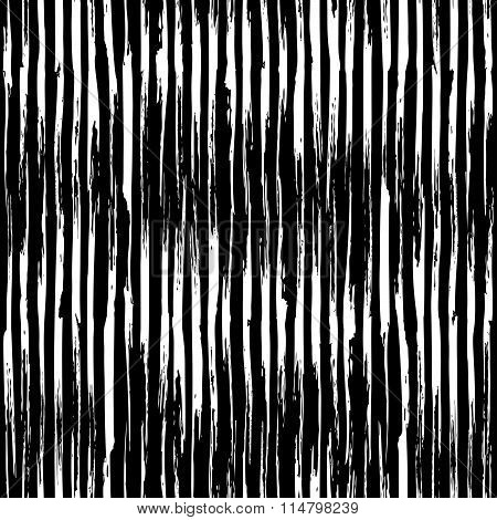 Vector Seamless Black and White Pattern.