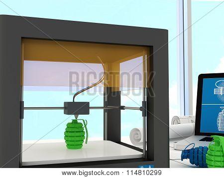 3d printing technology, hand grenade