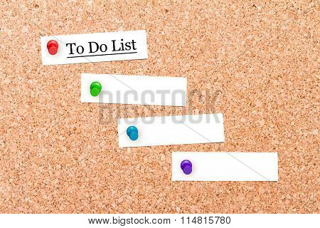 Corkboard With Pins