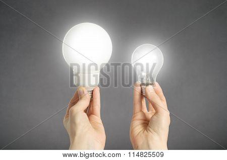 Hands With Light Bulbs