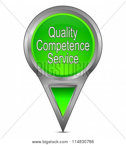 map pointer with Quality Competence Service