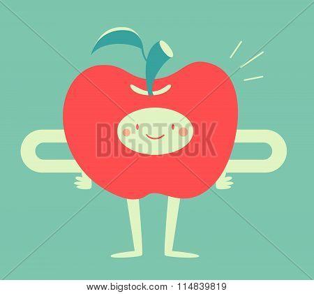 Happy Apple Smiling