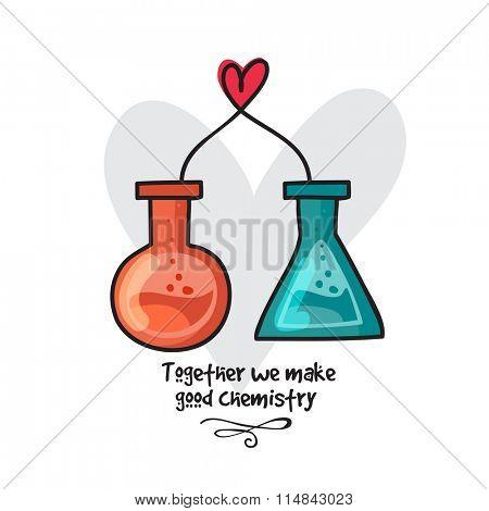 Creative labware making heart for Happy Valentine's Day celebration concept.