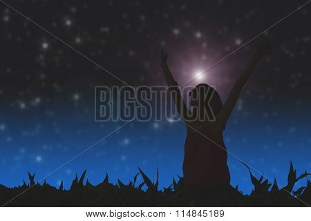 Girl watching the stars.