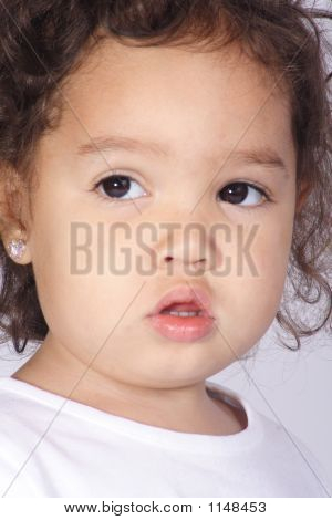 Close-Up Of Toddler