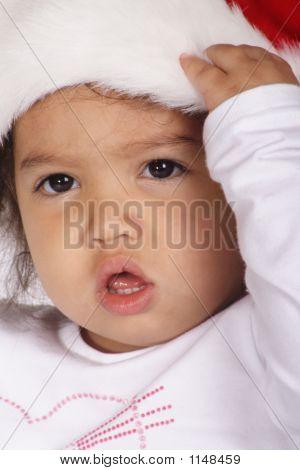 Toddler With Santa Hat