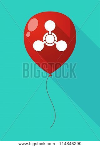 Long Shadow Balloon With A Chemical Weapon Sign