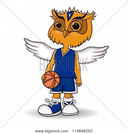 Design Of The Mascot Of The Basketball Team.