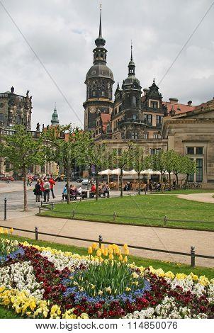 Dresden, Germany - April 27, 2010: Dresden Castle Or Royal Palace (dresdner Residenzschloss Or Dresd
