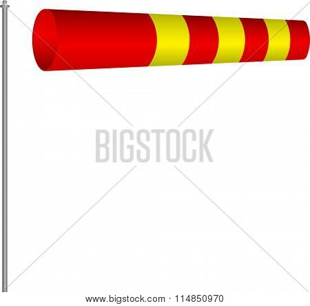Windsock Wind Indicator Vector Illustration