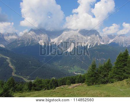 Alpine Landscape Of Sesto Dolomites, South Tyrol, Italy